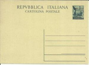 Contemplatif Allied Military Government-trieste-postal Card-hg:31, Unused, Only 2,000 Issued Finement Traité