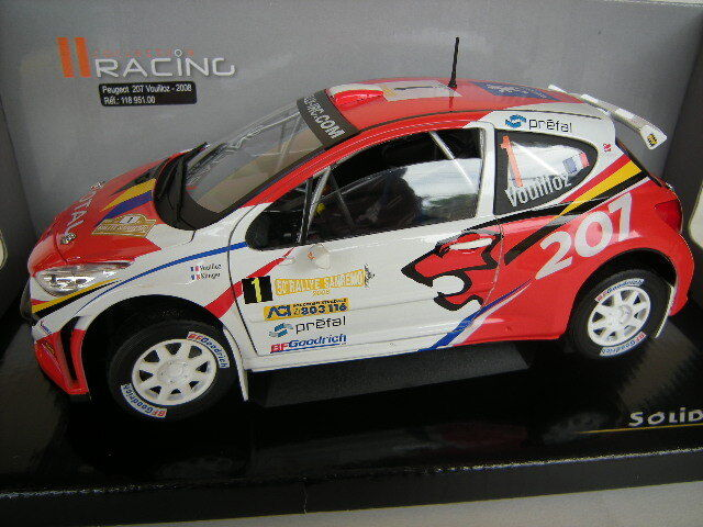 PEUGEOT 207 WRC  1 SAN REMO RALLY 2008 VOUILLOZ KLINGER SOLIDO 118951 1 18