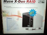 Thermaltake N0015lu Muse X-duo Raid 2-bay 3.5 Sata Hard Drive To Usb 2.0 Storage