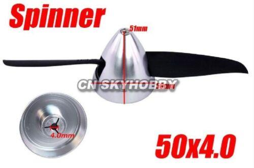Spinner Alu silber 50-4,0