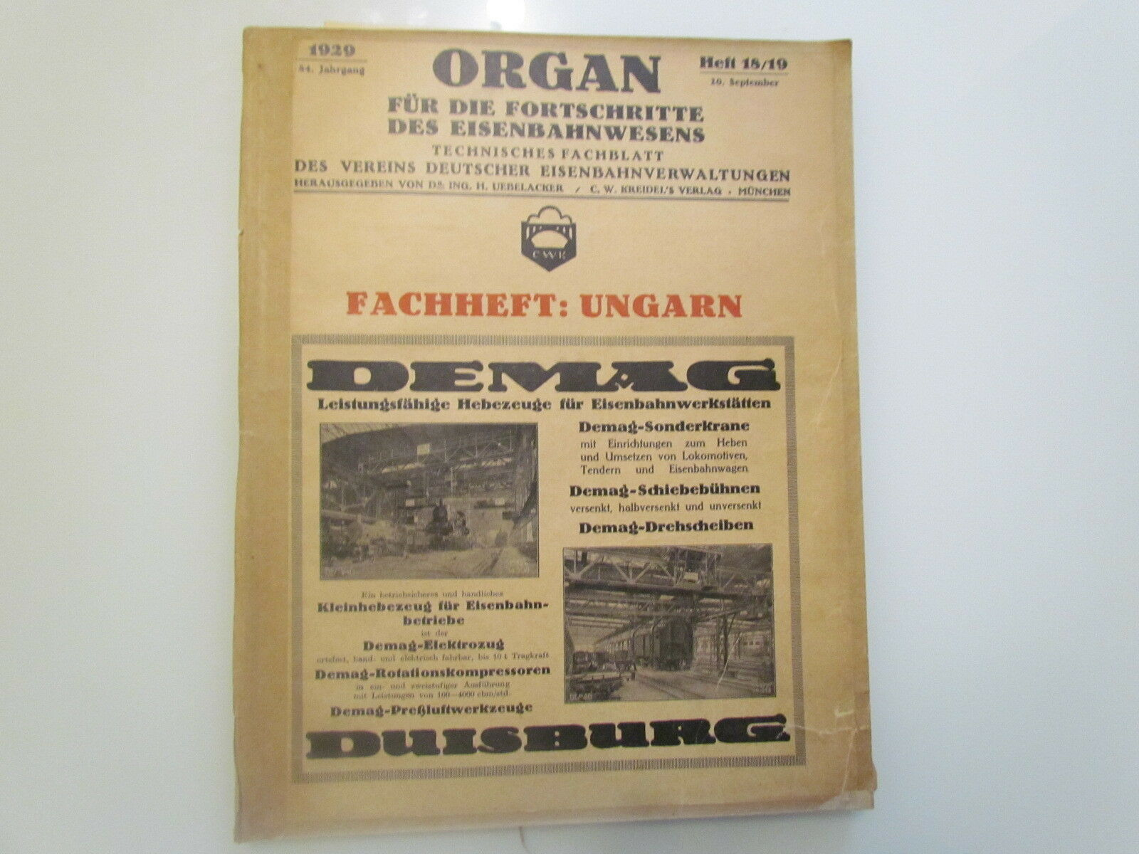 RAILROAD TRAIN LOKOMOTIVE EISENBAHN VERY RARE BOOK MAGAZINE 1 MAP + 10 PLAN-1929