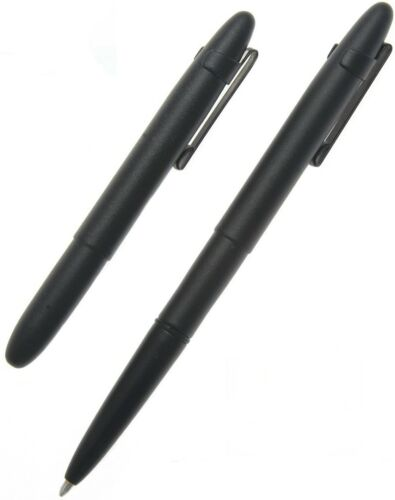 Fisher Space Pen Matte Black Bullet with Clip Gift Boxed 400BCL **NEW**