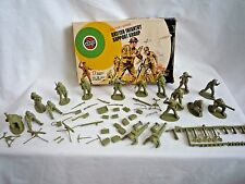VINTAGE AIRFIX 1970'S 1:32 SCALE BRITISH INFANTRY SUPPORT GROUP IN ORIGINAL BOX