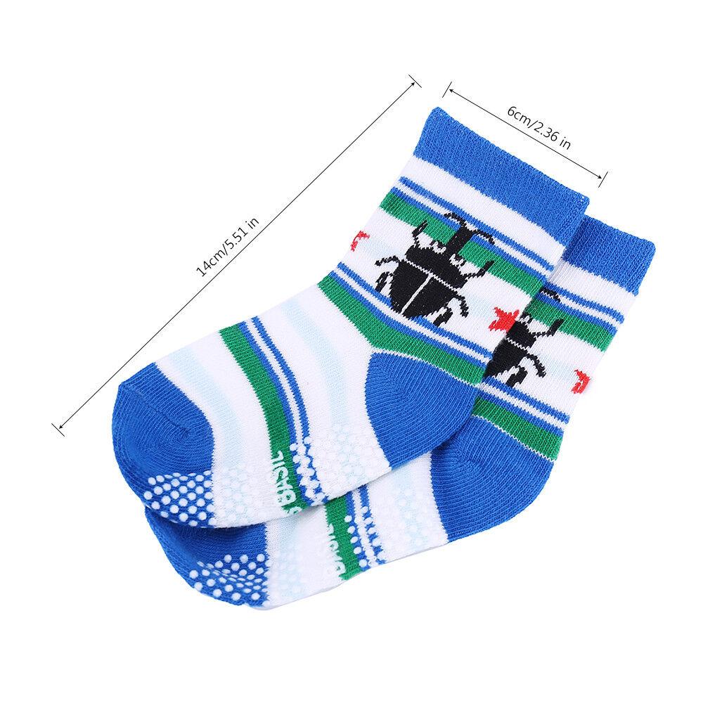 Yafane 12 Pairs Baby Girl Socks Non-Slip Cotton Socks for Girls 0-5 Years