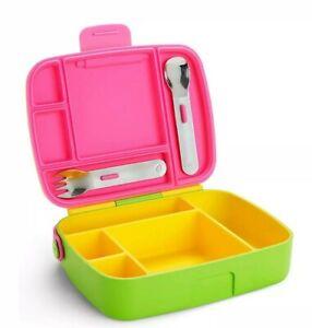 Munchkin Bento Toddler Baby Picnic School Feeding Food Lunch Box NEW FREE POST