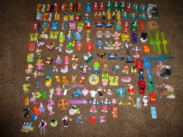171-Vintage McDonalds Happy Lot King Hot Wheels Moon Looney Looney Looney 1980-1990's  Cereal 64b7ad