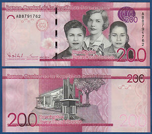 200 Pesos Dominicanos 2014 Unc P.191 Be Shrewd In Money Matters Dominican Rep Dominikanische