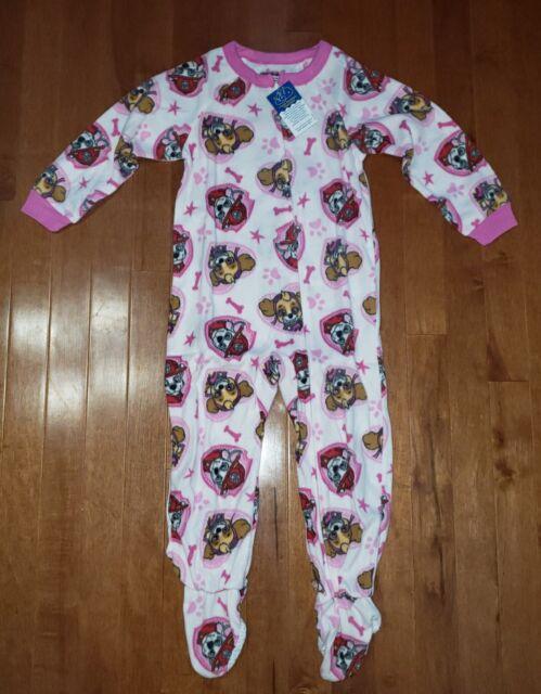 PAW Patrol Skye Girls 3T Fleece Footed Blanket Pajama Sleeper