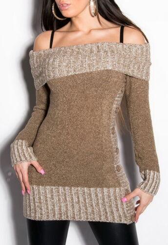 Women/'s Off The Shoulder Sweater S//M M//L