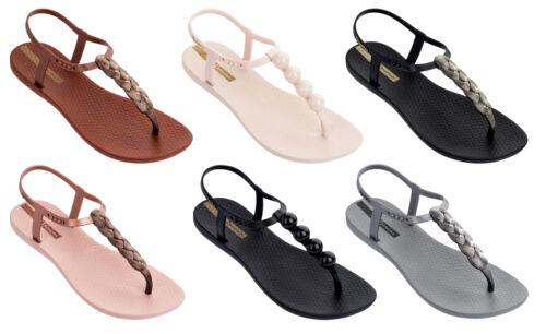 Braid /& Pebble Effect Ladies Charm 21 T-Bar Summer Sandals Ipanema