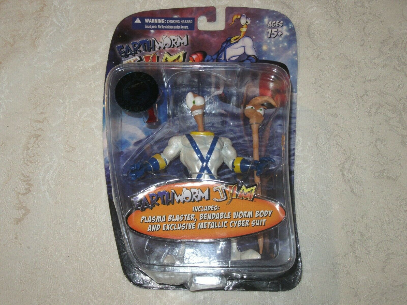 Mezco lombrices de tierra Jim 2012 con Exclusive Metálico traje Cyber Figura De Acción