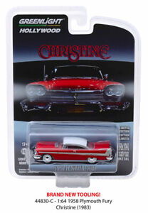 Christine-1958-Plymouth-Fury-HOLLYWOOD-SERIES-23-GREENLIGHT-DIECAST-1-64