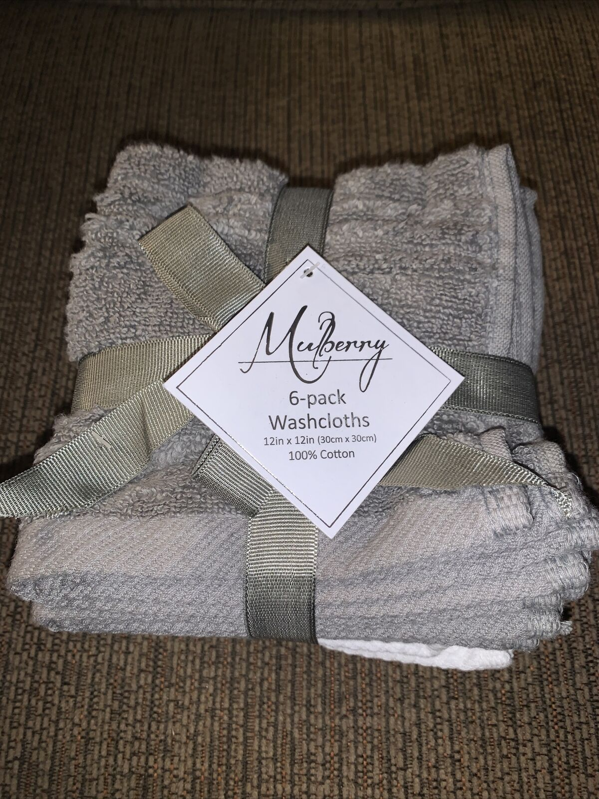 Mulberry 6-Pack Washcloths 100% Cotton