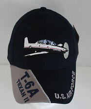 U.S. Air Force Texan II Baseball Hat Military Adjustable T-6A Embroidered Cap