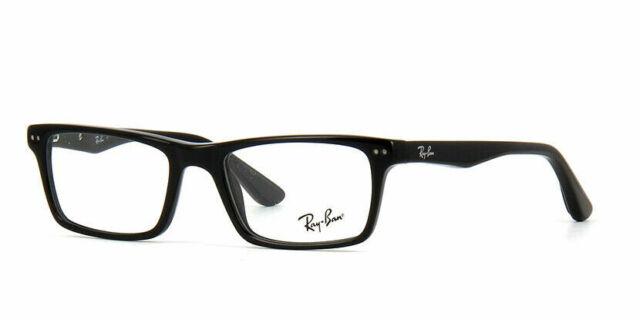 Ray Ban Eyeglasses RX5288 2000 52 Polished Black/Demo Lens Optical Frame RB5288