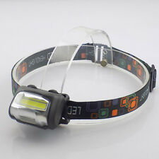 Mini LED COB Headlamp Flashlight High Power Bright AAA Head Torch Lamp Camping