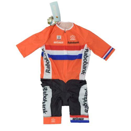 show original title Details about  /Bio Racer Rabobank Pro 4 L TIME RUNNING SUIT SPEEDSUIT Skinsuit Cycling Time Trial