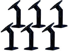 6 Pack Speaker Wall Ceiling Mount Brackets Home Theater Surround Sound Black New