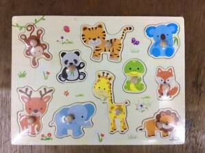 Party-Animal-Wooden-Peg-Puzzle-Educational-Toy-Gift-jl1
