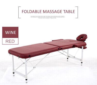 84u0027u0027L Massage Table 2 Fold Height Adjustable Portable Aluminium SPA Beauty  Bed | EBay