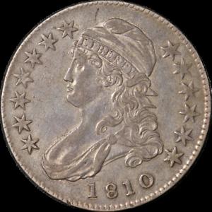 1810 Bust Half Dollar Choice XF+ 0-109 R.3 Great Eye Appeal Nice Strike