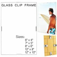 CLIP FRAME POSTER PHOTO PICTURE POTRAIT PLASTIC GLASS ALL SIZES UK