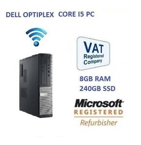 Dell-OptiPlex-3010-DT-Intel-I5-8GB-240GB-SSD-PC-de-escritorio-de-Windows-10-Hdmi