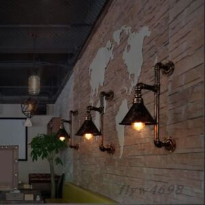 Details About Steampunk Wall Lamp Rustic Vintage Pipe Indoor Barn Light Sconce