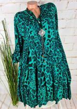 ITALY Gr.42,44,46,Sommer Strand Kleid,Tunika,Streifen Muster,TaschenOversize,Neu