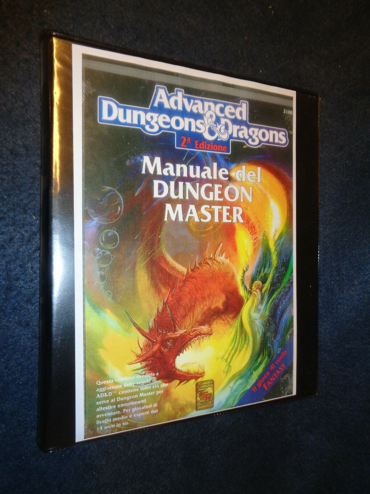 ADVANCED DUNGEONS & DRAGONS MANUALE DEL DUNGEON MASTER DELUXE 2100 RARO-O11-FL