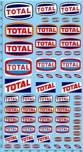 Total patrocinadores decal #pp05-1 195 x 100 mm 1:18 decal estampados