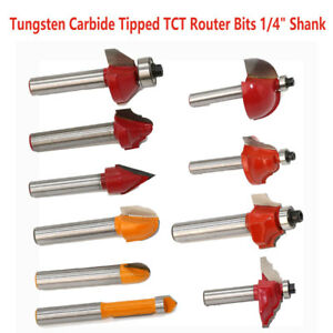 1//4/'/' Shank Groove Joint Router Bit TCT Tungsten Woodworking Cutter Set Tools