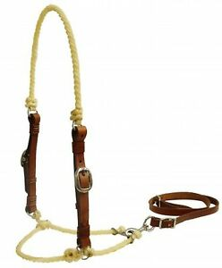 Showman-Lariat-Rope-Tie-Down-w-Medium-Oil-Leather-Cheeks-NEW-HORSE-TACK