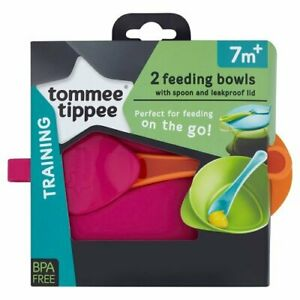 Tommee-Tippee-Explora-Easy-Scoop-Feeding-Bowl-Lid-and-Spoon-Colours-May-Vary