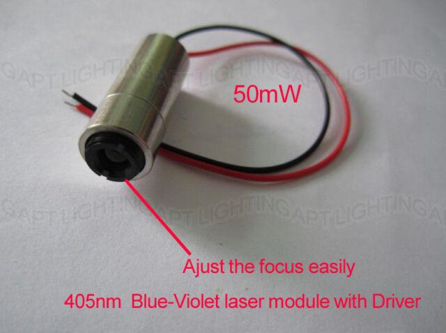 405nm 50mW Blue-Violet blu-ray Focus adjustable Blue Laser module lazer diode
