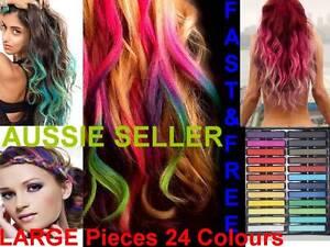 Hair-Chalk-Set-24-LARGE-Pieces-Temporary-Colour-Non-Toxic-DIY-Salon-Dye-Fun
