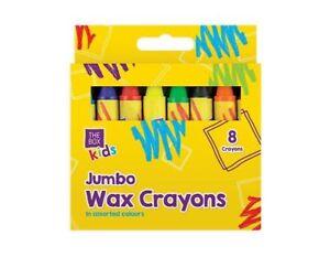 Kids Jumbo Wax Prise En Main Facile Crayons - 8 Pack Sécurité, Non Toxique Enfant Premier Crayons Art-afficher Le Titre D'origine Pbabonkp-10105755-278677389