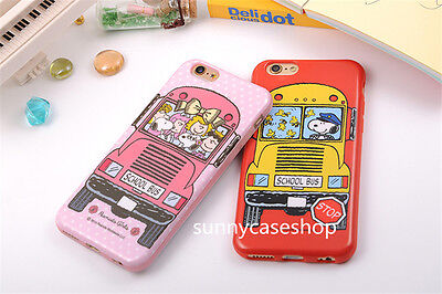 Cute PEANUTS Snoopy cartoon TPU Soft Back Case Cover for Apple iPhone 6 6S plus