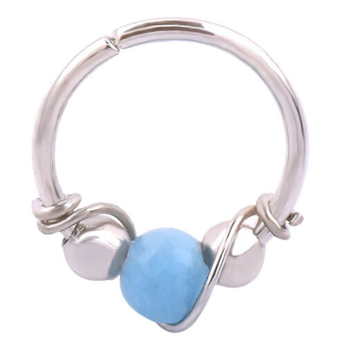 Details about  /Stainless Steel Nose Ring Turquoise Nostril Hoop Nose Earring Piercing JewelCWY