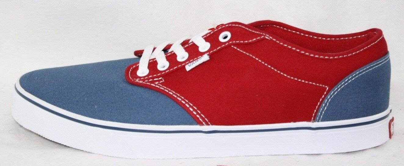 NEW Mens VANS Atwood 2 Tone rot Blau Canvas Canvas Canvas Classic retro Turnschuhe schuhe 4673a6
