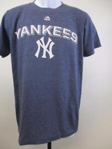 NY Baseball T Shirt Mens M L Majestic New York Yank Yankees Jersey