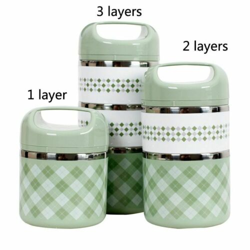 Thermal Lunch Box with Stainless Steel Leakproof Thermos Food Container Multi
