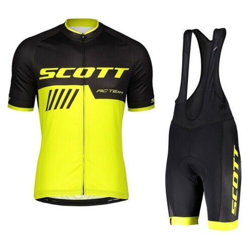 Men Cycling Jersey Bib Shorts Set Short Sleeve bicycle Outfits Team Bike Clothes
