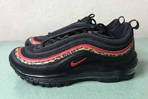 Details about Nike Air Max 97 Leopard Pack Black Red Women's Sz 7.5 Cheetah 1 90 95 NEW!!!