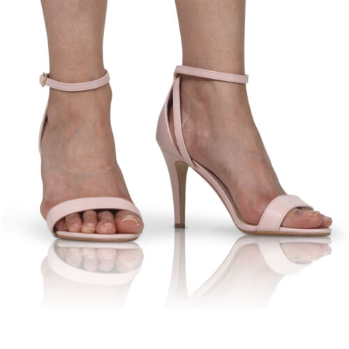 NEW WOMENS LADIES HIGH HEEL PEEP TOE SHOES SANDAL PARTY CASUAL ANKLE STRAP