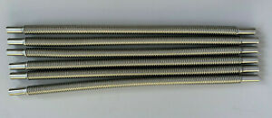 Stainless steel flex tube for Chinese cooker burners 12mm x 400mm (6 pieces)