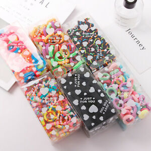 100Pcs-Women-Girl-Hair-Band-Ties-Elastic-Rope-Ring-Hairband-Ponytail-Holder