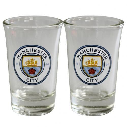 - GIFT 2 Pack Shot Glass Set Manchester City F.C