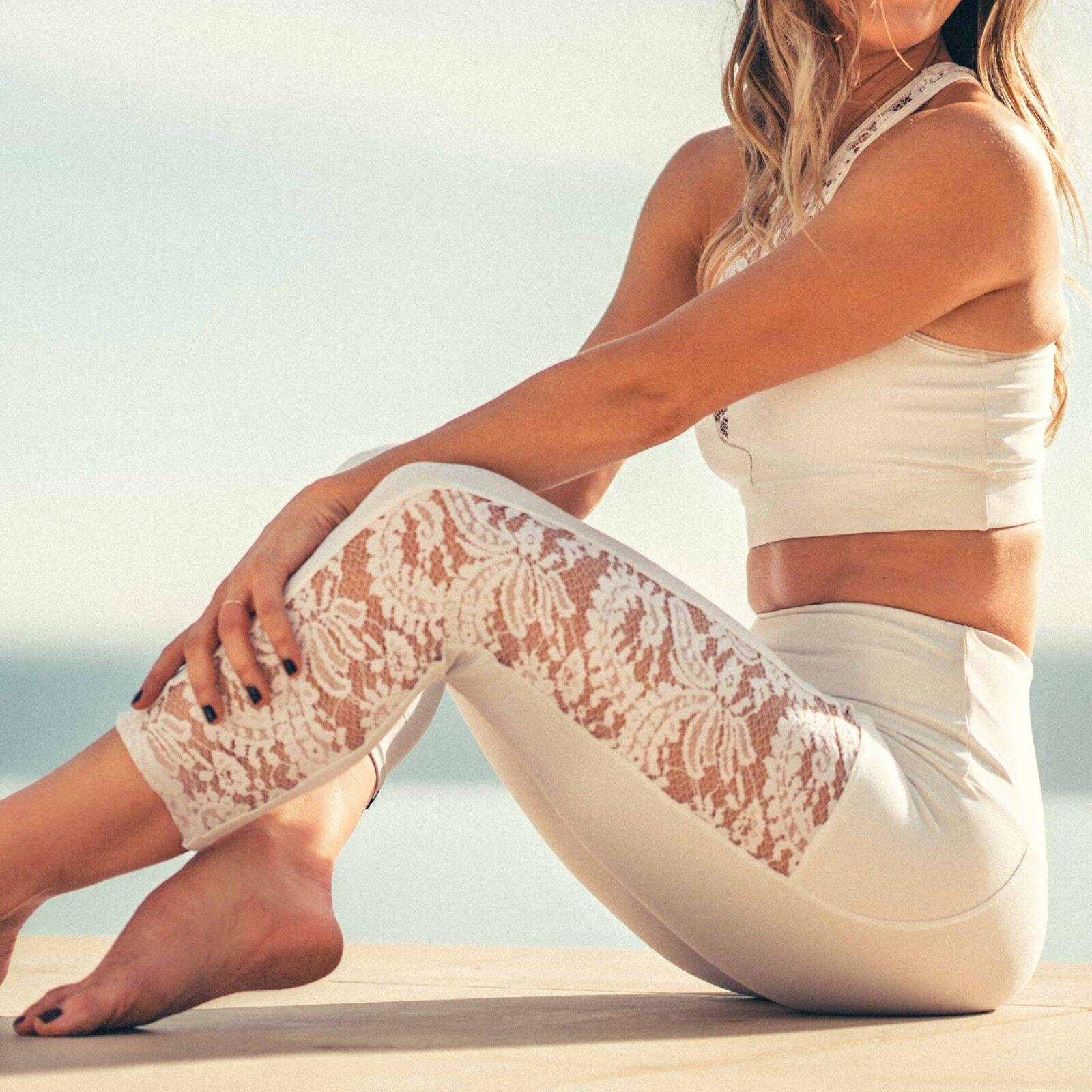 Onzie Bridal White Lace Stunner Capri Legging