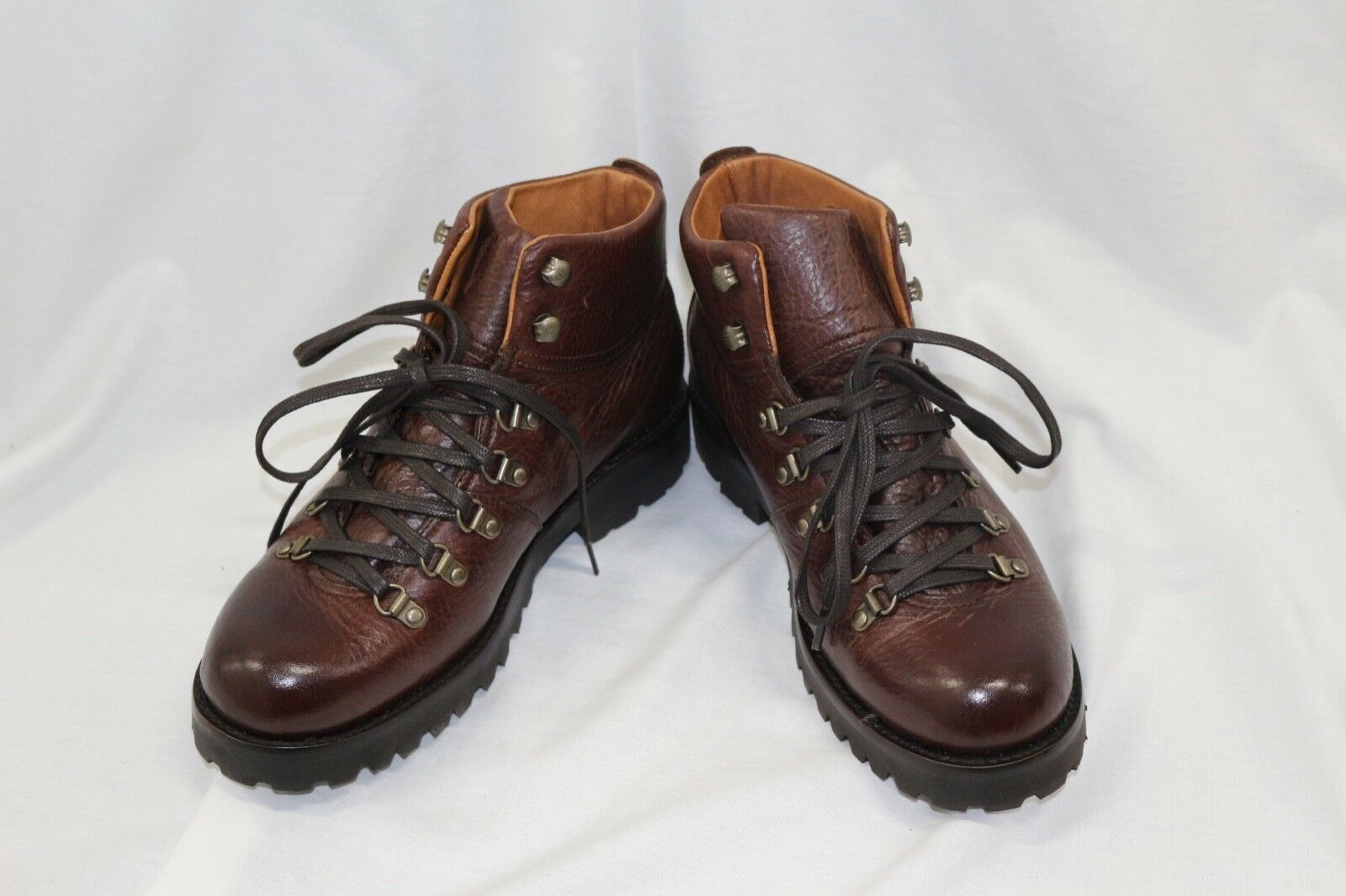 NIB Mens FRYE Earl Hiker Brown Leather Lace Up Ankle Boots
